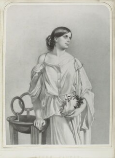 Helen Faucit (Helena (née Faucit Saville), Lady Martin), by Richard James Lane, after  Sir Frederic William Burton - NPG D22004