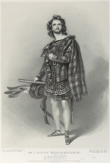 Charles John Kean as Macbeth, by Richard James Lane, printed by  M & N Hanhart, published by  John Mitchell, after  Alfred Edward Chalon - NPG D22012