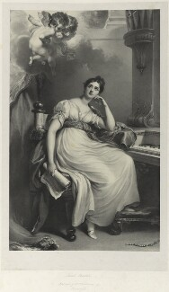 Elizabeth Williams (née Currie) as St Cecilia, by Richard James Lane, after  Sir Thomas Lawrence, and after  William Hilton - NPG D22020
