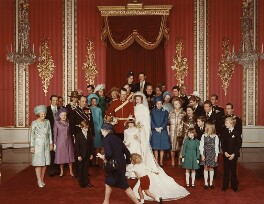 The Wedding of Princess Anne and Captain Mark Phillips, by Norman Parkinson - NPG x126928