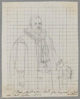 Sir Hugh Myddelton, 1st Bt, by Henry Bone, after  Cornelius Johnson (Cornelius Janssen van Ceulen) - NPG D17142