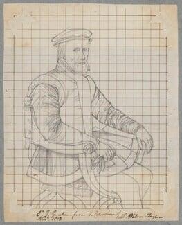 Sir Thomas Gresham, by Henry Bone, after  Anthonis Mor (Antonio Moro) - NPG D17143