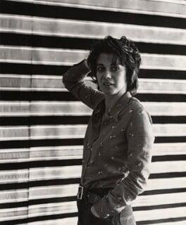 Bridget Riley, by Edward Lucie-Smith - NPG x22053