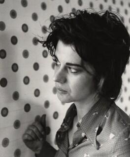 Bridget Riley, by (John) Edward McKenzie Lucie-Smith, circa 1970 - NPG x22052 - © Edward Lucie-Smith / National Portrait Gallery, London