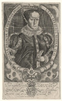 Queen Mary I, by Francis Delaram, published 1638 (after 1618) - NPG D17819 - © National Portrait Gallery, London