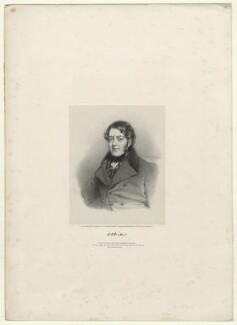 Unknown man, by Richard James Lane, printed by  M & N Hanhart, published by  Colnaghi and Puckle, after  Sir William Charles Ross - NPG D22036