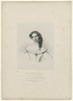 Helen Faucit (Helena (née Faucit Saville), Lady Martin), by Richard James Lane, printed by  Graf & Soret, published by  Joseph Dickinson, after  Sir Frederic William Burton - NPG D22057