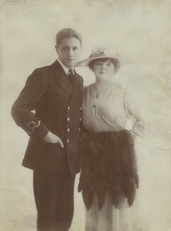 Ivor Novello; Clara Novello Davies, by Lallie Charles - NPG x17128