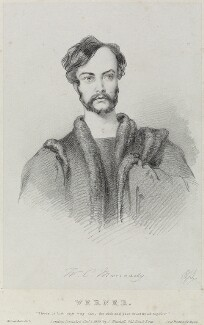 William Charles Macready as Werner, by Richard James Lane, printed by  Jérémie Graf, published by  John Mitchell - NPG D22068