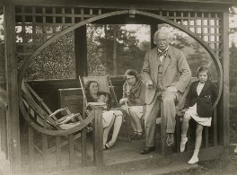 Group including Lady Olwen Carey-Evans (née Lloyd George) and David Lloyd George, by Daily Express - NPG x38848