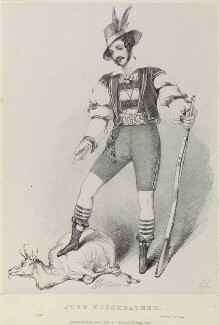J. Wilson as Jose Speckbacher in 'Amilie', by Richard James Lane, printed by  Jérémie Graf, published by  John Mitchell, by  Alfred Edward Chalon - NPG D22085