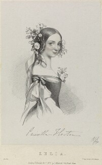Priscilla Horton as Lelia in 'Amilie', by Richard James Lane, printed by  Jérémie Graf, published by  John Mitchell, after  Alfred Edward Chalon - NPG D22087