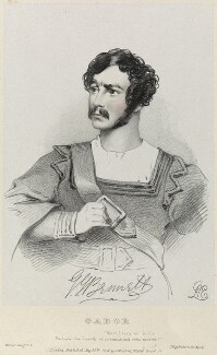 George John Bennett as Gabor in 'Werner', by Richard James Lane, printed by  Jérémie Graf, published by  John Mitchell, after  Alfred Edward Chalon - NPG D22093