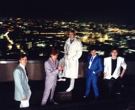 Duran Duran (Andy Taylor; Nick Rhodes; Simon Le Bon; Roger Taylor (Roger Meddows-Taylor); John Taylor), by Andy Earl, 1983 - NPG x126938 - © Andy Earl