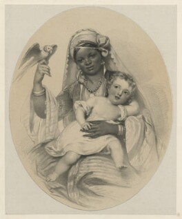 Unknown woman and child, by Richard James Lane - NPG D21824