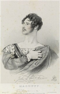 John Langford Pritchard as Macduff in 'Macbeth', by Richard James Lane, printed by  Jérémie Graf, published by  John Mitchell, after  Alfred Edward Chalon - NPG D22101