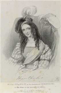 Eliza Charles as Cherubino in 'The Marriage of Figaro', by Richard James Lane, published by  John Mitchell, after  Alfred Edward Chalon - NPG D22104