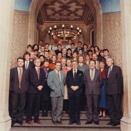The Staff of the National Portrait Gallery, by Trevor Leighton, 14 September 1993 - NPG x45125 - © Trevor Leighton / National Portrait Gallery, London