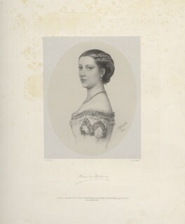 Princess Helena Augusta Victoria of Schleswig-Holstein, by Richard James Lane, printed by  M & N Hanhart, published by  John Mitchell, after  Albert Graefle - NPG D22118