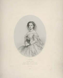 Victoria, Empress of Germany and Queen of Prussia, by Richard James Lane, printed by  M & N Hanhart, after  Franz Xaver Winterhalter - NPG D22122