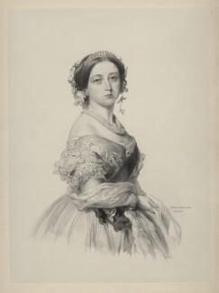 Queen Victoria, by Richard James Lane, after  Franz Xaver Winterhalter - NPG D22123