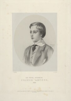 Prince Arthur, 1st Duke of Connaught and Strathearn, by Richard James Lane, printed by  M & N Hanhart, published by  John Mitchell, after  Albert Graefle - NPG D22131