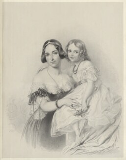 Princess Adelheid of Hohenlohe-Langenburg, by Richard James Lane, after  Sir George Hayter, 1841 - NPG D22134 - © National Portrait Gallery, London