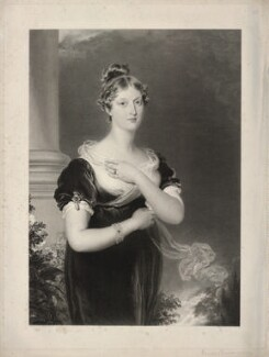 Princess Charlotte Augusta of Wales, by Richard Golding, after  Sir Thomas Lawrence - NPG D22138