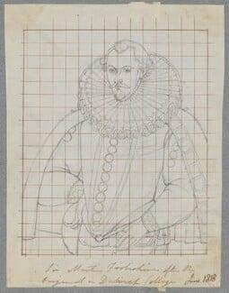 Sir Martin Frobisher, by Henry Bone, after  Unknown artist, June 1818 - NPG D17156 - © National Portrait Gallery, London