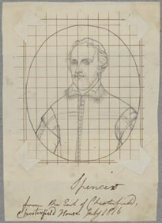 Edmund Spenser, by Henry Bone, after  Unknown artist - NPG D17164