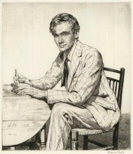 Stephen Bone woodcutting, by Francis Dodd - NPG D17837
