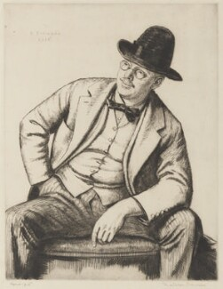 Francis Dodd, by Randolph Schwabe - NPG D17838