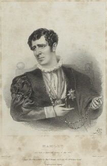Charles Kemble as Hamlet, by Richard James Lane, printed by  Jérémie Graf, published by  Colnaghi and Puckle, after  Alfred Edward Chalon - NPG D22324