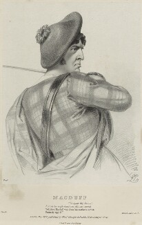Charles Kemble as Macduff in 'Macbeth', by Richard James Lane, printed by  Jérémie Graf, published by  Colnaghi and Puckle, after  Alfred Edward Chalon, published May 1840 - NPG D22330 - © National Portrait Gallery, London