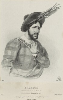 Charles Kemble as Macbeth, by Richard James Lane, printed by  Jérémie Graf, published by  Colnaghi and Puckle, after  Alfred Edward Chalon, published May 1840 - NPG D22331 - © National Portrait Gallery, London
