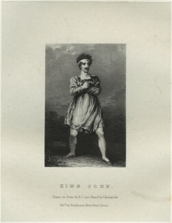 John Philip Kemble as King John, by Richard James Lane, printed by  Charles Joseph Hullmandel, published by  Joseph Dickinson, after  John Boaden - NPG D22315
