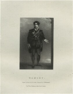 John Philip Kemble as Hamlet, by Richard James Lane, printed by  Charles Joseph Hullmandel, published by  Joseph Dickinson, after  John Boaden - NPG D22319