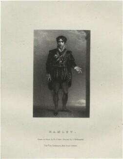 John Philip Kemble as Hamlet, by Richard James Lane, printed by  Charles Joseph Hullmandel, published by  Joseph Dickinson, after  John Boaden - NPG D22319