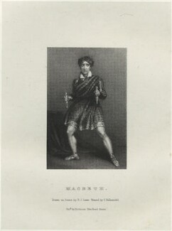John Philip Kemble as Macbeth, by Richard James Lane, printed by  Charles Joseph Hullmandel, published by  Joseph Dickinson, after  John Boaden - NPG D22320