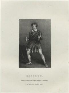 John Philip Kemble as Macbeth, by Richard James Lane, printed by  Charles Joseph Hullmandel, published by  Joseph Dickinson, after  John Boaden, published 1 October 1826 - NPG  - © National Portrait Gallery, London