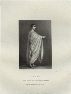 John Philip Kemble as Cato, by Richard James Lane, printed by  Charles Joseph Hullmandel, published by  Joseph Dickinson, after  John Boaden - NPG D22314
