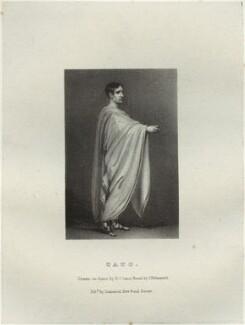John Philip Kemble as Cato, by Richard James Lane, printed by  Charles Joseph Hullmandel, published by  Joseph Dickinson, after  John Boaden - NPG D22314