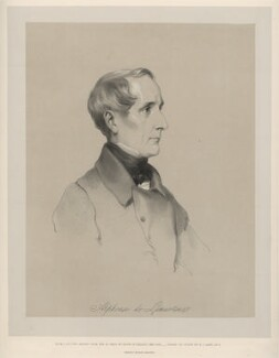Alphonse Marie Louise Prat de Lamartine, by Richard James Lane, printed by  M & N Hanhart, after  Henry Wyndham Phillips - NPG D22145