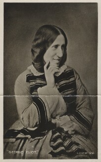 George Eliot (Mary Ann Cross (née Evans)), by London Stereoscopic & Photographic Company, after  Mayall, copied 1870s (1858) - NPG x126939 - © National Portrait Gallery, London