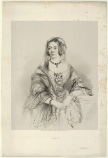 Emma Sophia (née Edgecumbe), Countess Brownlow, by Richard James Lane, printed by  M & N Hanhart, after  James Rannie Swinton - NPG D22180