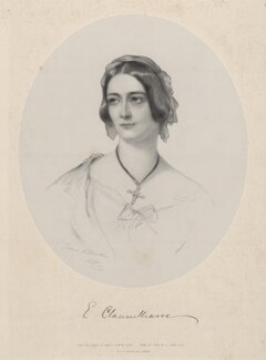 Elizabeth (née Herbert), Countess of Clanwilliam, by Richard James Lane, printed by  M & N Hanhart, after  James Rannie Swinton - NPG D22188