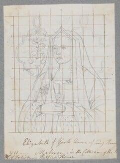 Elizabeth of York, by Henry Bone, after  Unknown artist - NPG D17181