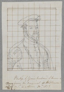 Philip II, King of Spain, by Henry Bone, after  Unknown artist, after  Anthonis Mor (Antonio Moro) - NPG D17185