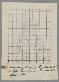 Catherine of Braganza, by Henry Bone, probably after  Pieter Borsseler - NPG D17189