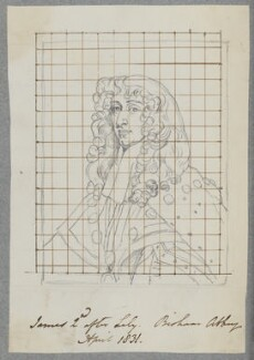 King James II, by Henry Bone, after  Sir Peter Lely - NPG D17191